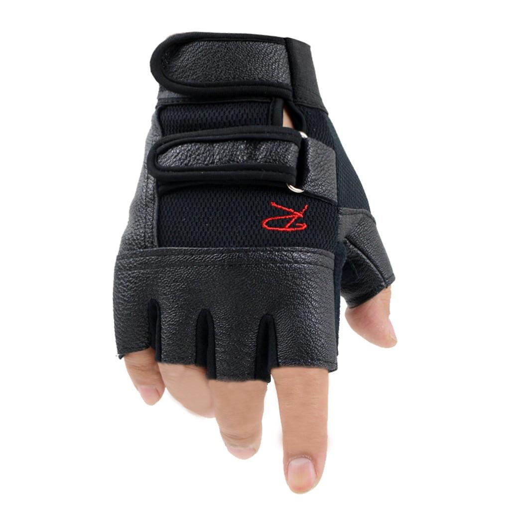 Men Women Gym Gloves Weight Lifting Bodybuilding Weight Lifting Gloves Fitness Training Gloves With Lengthen Wrist Straps 1011