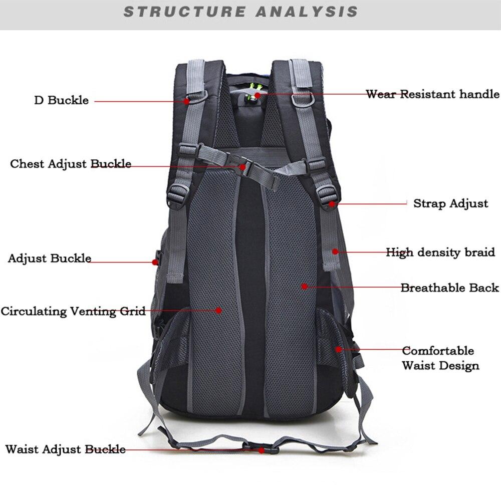Outdoor Rucksack Camping Hiking Backpack Trekking 45L&50L Purple Waterproof Sports Bag Backpacks Bag Climbing Travel Rucksack11