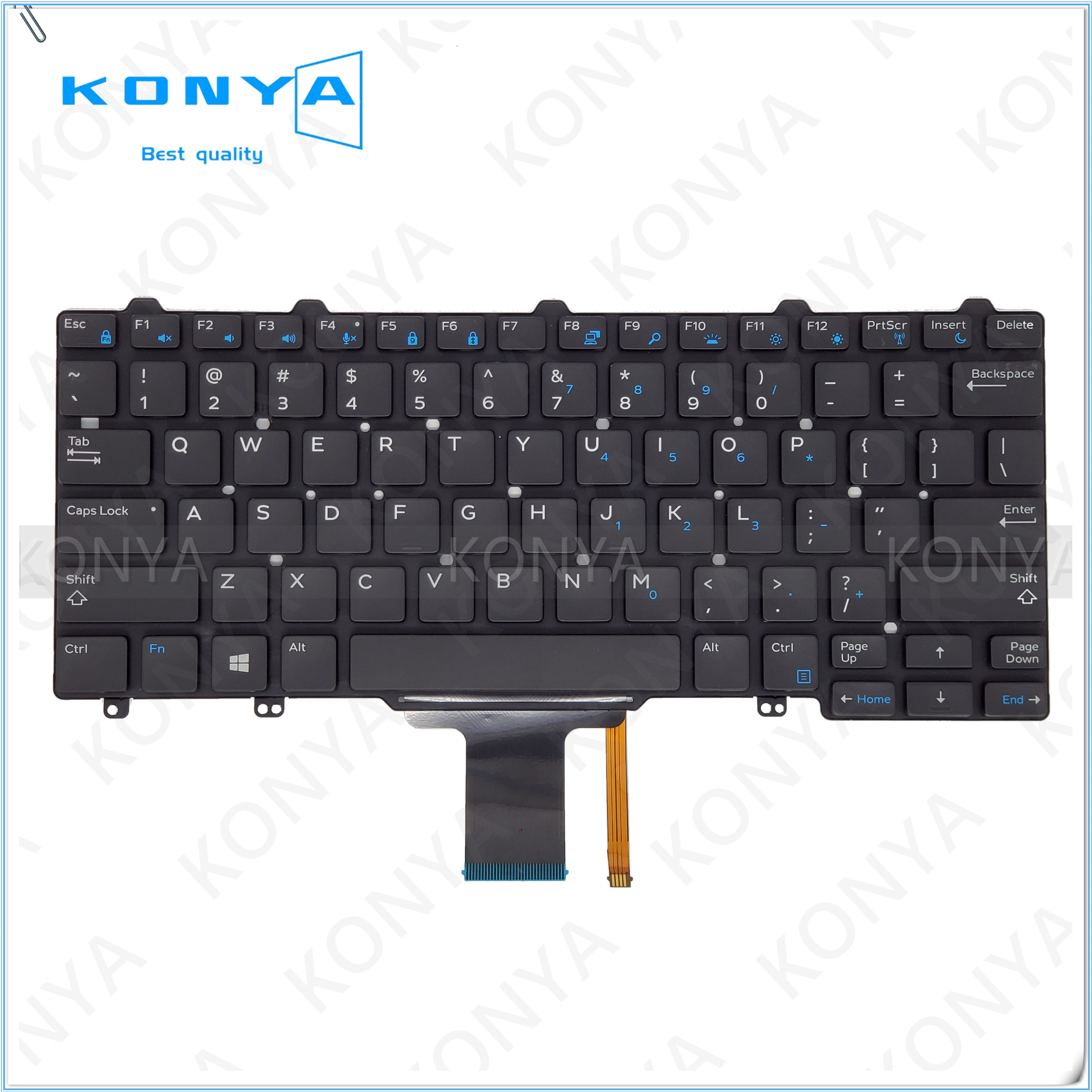 New US Black Keyboard for Dell Latitude 12 7275 3150 3160 XPS 12 9250