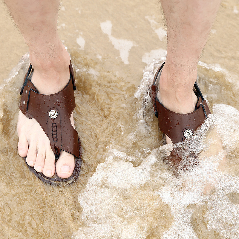 Summer Fashion Beach Sandals Men Shoes Hollow High Quality Gladiator Sandals Light Leather Comfort Sandals