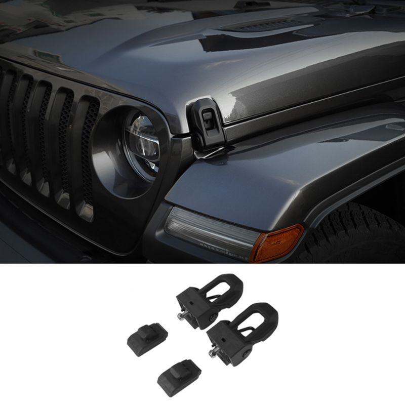 Original Black Stainless Steel Latch Locking Jeep JK Accessories Hood Catch Kit for Jeep Wrangler 2007-2019 JK JL Kohree Jeep Wrangler Hood Latch Lock