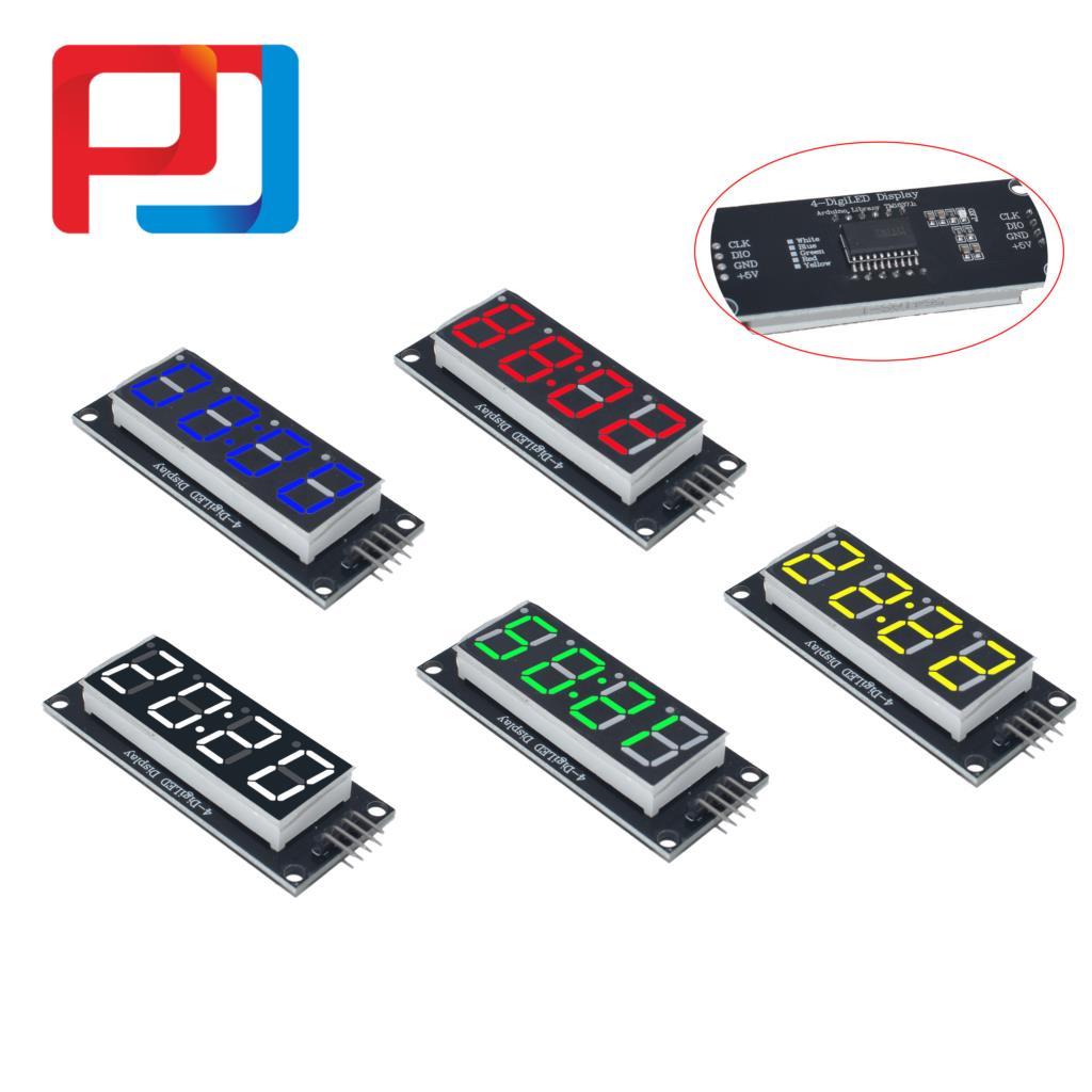 "TM1637 4 Digit White 0.56/"" LED Display Module Arduino PIC STM Raspberry Pi Clock"