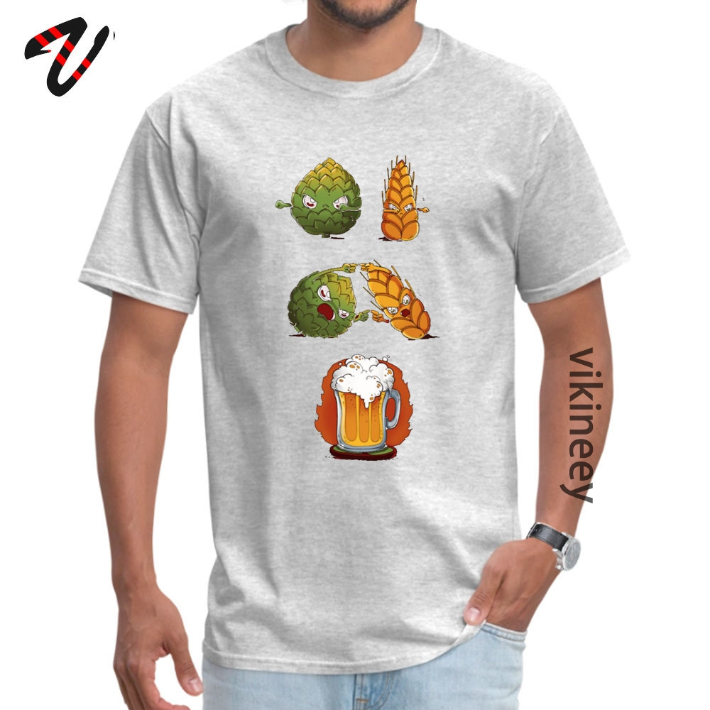 Cotton Youth Short Sleeve BEERFUSION T-Shirt comfortable Tops Shirt Company Leisure Round Neck Tops Tees Drop Shipping BEER-FUSION0705 grey