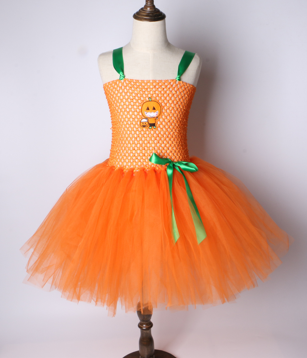 Fancy Dress Orange Pumpkin TShirt with Tutu Skirt HALLOWEEN PUMPKIN PARTY TUTU