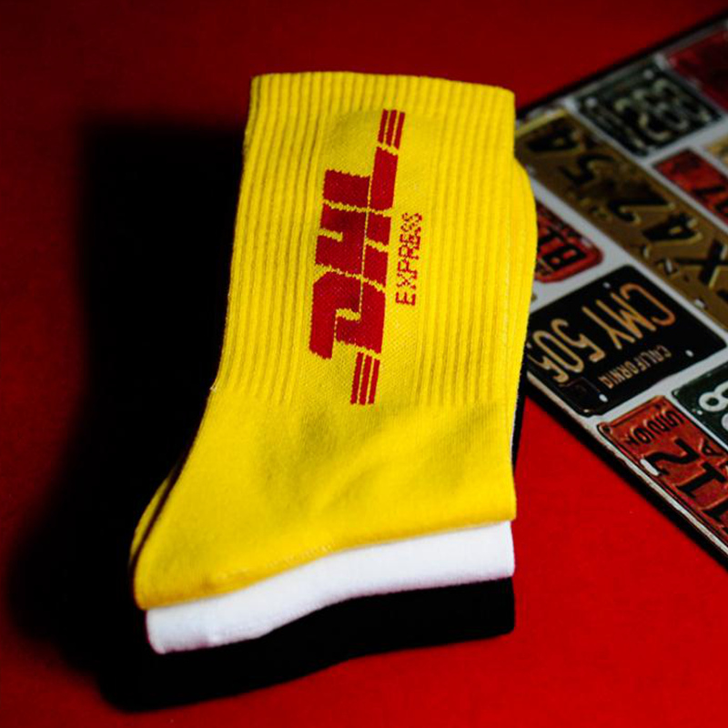 Mens Crew cotton DHL express hip hop Socks Vetements Style Letter Print hipster Men Woman Fashion Sock Skaterboard game