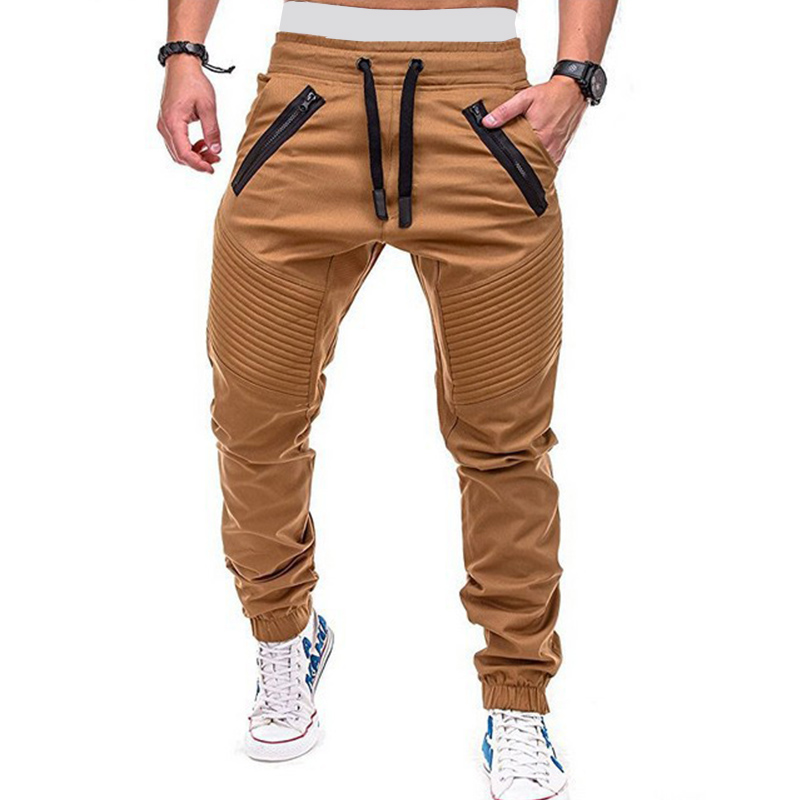 Men's Pants Trousers Joggers Hip-Hop Streetwear Men Casual Fashions Hombre title=