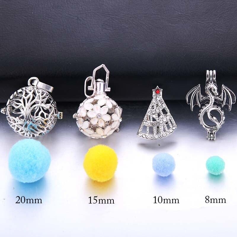 Balles de cotton pour pendentif diffuseurs d'huiles essentielles exemple de tailles | oko oko