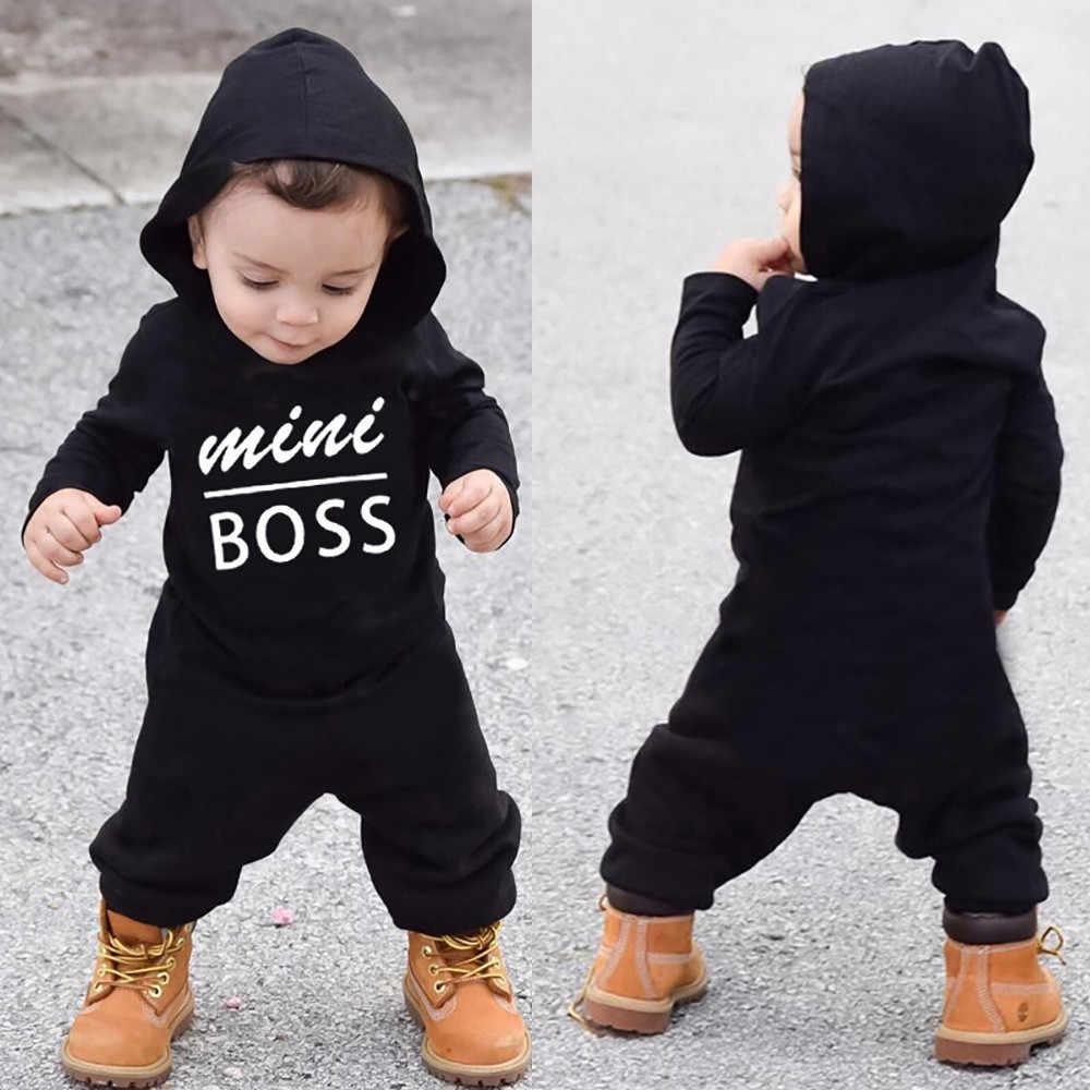 Toddler Kid Baby Boy Girl Fashion Romper Clothes Letter Pocket Belt Jumsuit Coat