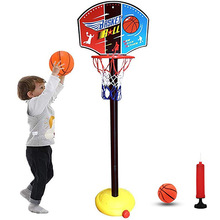 Backdrop Basket Ball Hoop Rack Educational Kids Children Toys Toy Balls Outdoor Indoor Fun Sports With ABC Stand Fabric Net Goal