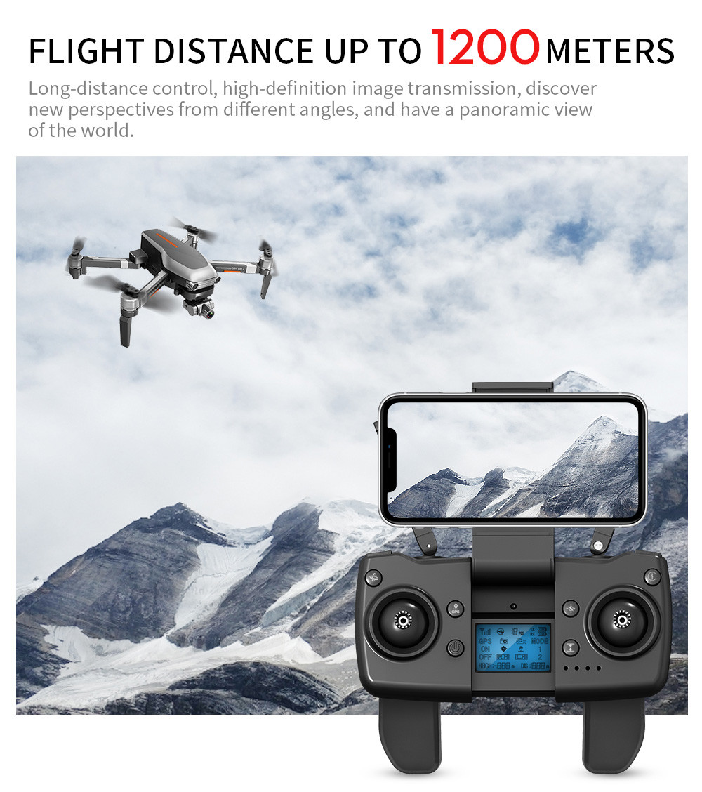 Outdoors - L109PRO GPS Drone 4K Quadcopter HD ESC Camera Brushless 5G WiFi FPV HD ESC Camera Brushless Helicopter Long Flight Time