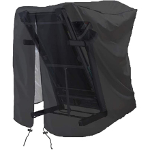 Treadmill Cover, Folding Treadmill Cover, Dustproof and Waterproof Cover, Oxford Cloth Waterproof Sunscreen Cover(Black)