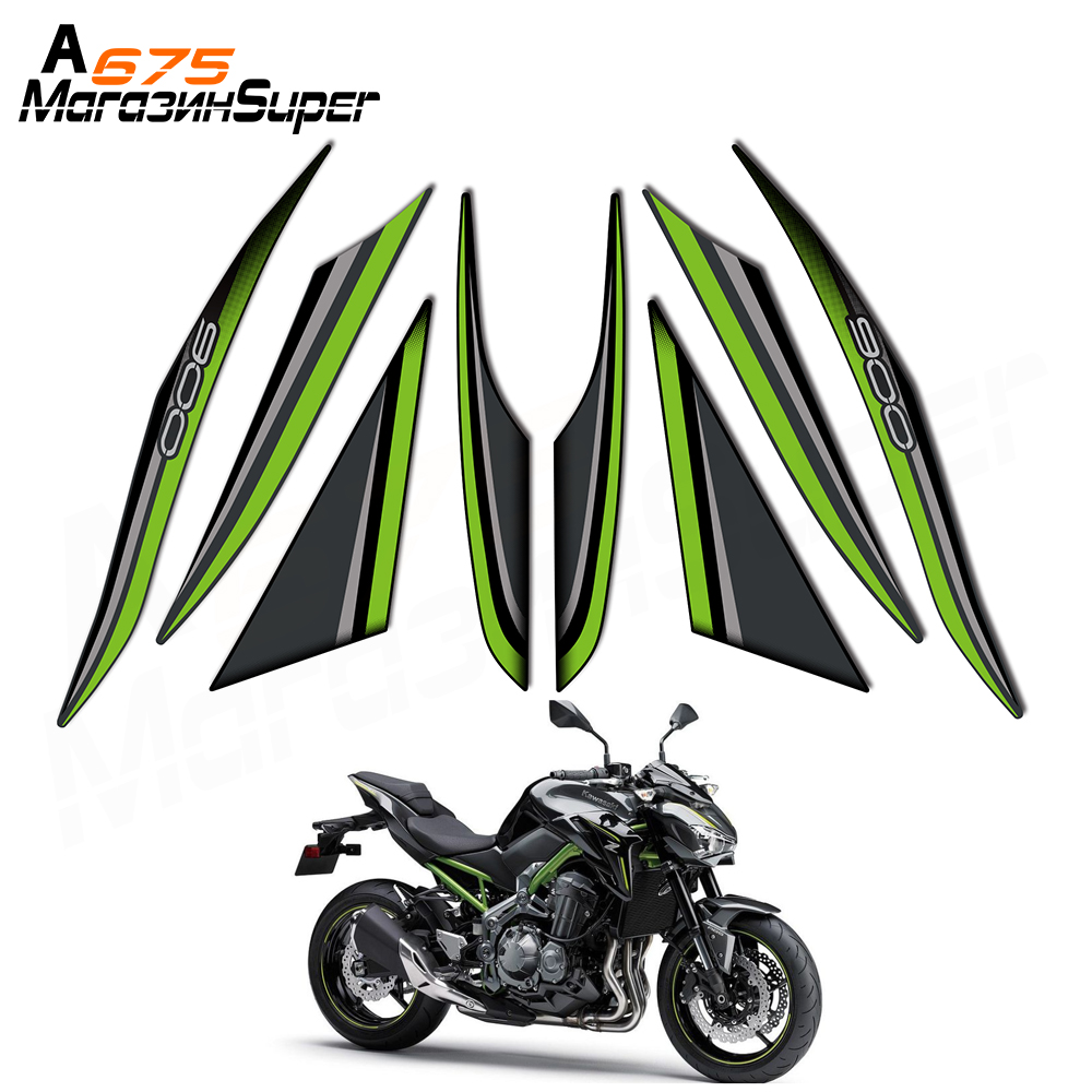 New For Kawasaki Z900 ZR900 2017-2018 Tank Traction Side Pad Gas Knee Grip Fit
