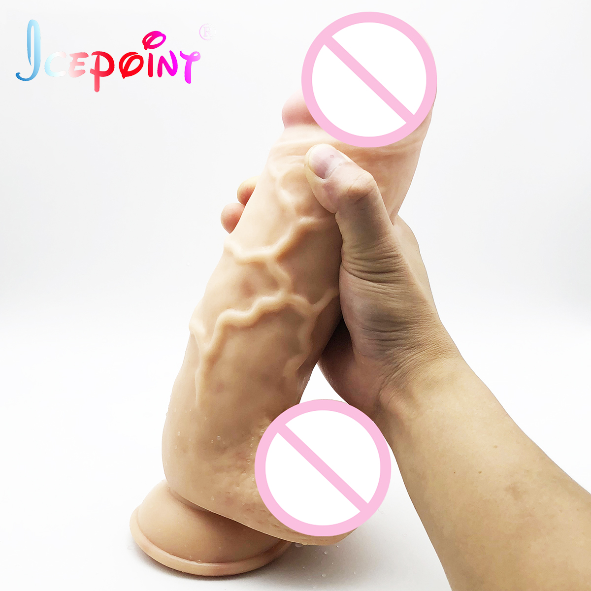ICEPOINT 29.5*7cm Giant Huge Dildo Super Big Dick With Suction Cup Anal Butt Plug Large Dong Realistic Penis Sex Toys For Woman