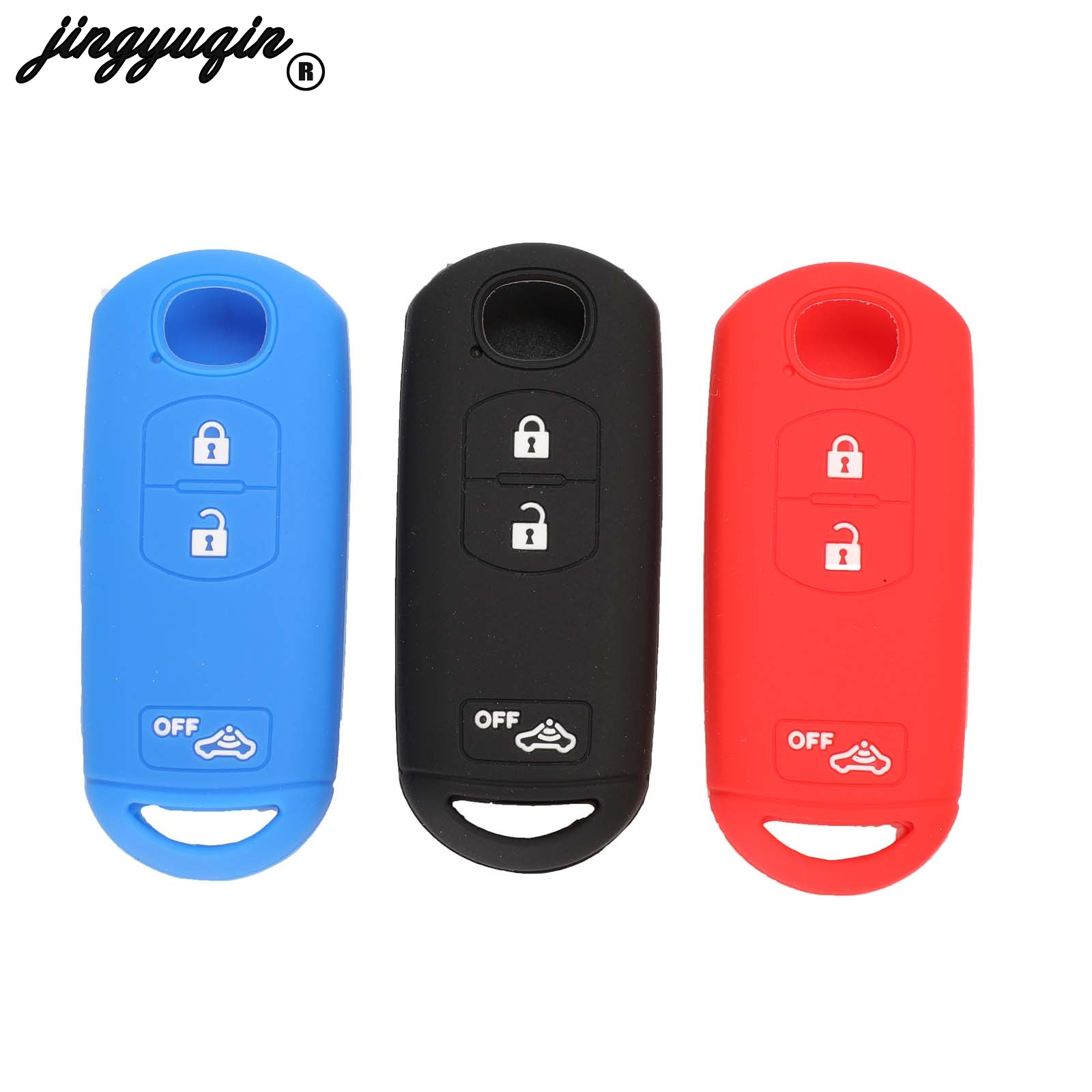 Jingyuqin Fob-Case Car-Key-Cover CX9 Remote-Key CX7 4-Buttons Silicone Mazda 3 for Car-Stying title=