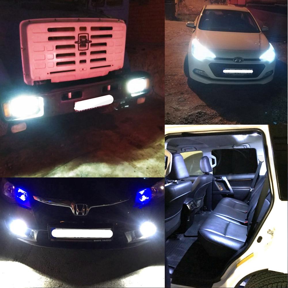 Hviero White Ba9s T4w 20smd 20 Smd 3528 1210 Car Marker Led Interior Reading License Plate DC 12v Tail Bulb parking Lamps Gauge light