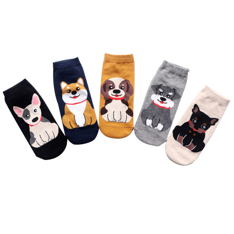 TTOOHHH Women Fashion Lovely Puppy Coral Thickening Cotton Middle stockings Socks