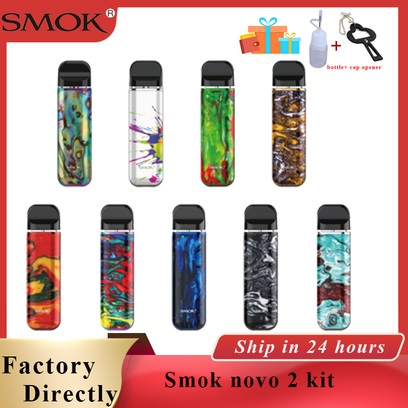 In stock vaporizer vape SMOK novo 2 kit pod vape 2ml & 800mAh Electronic cigarette Vape fit DC MTL Pod novo 2 vs smok RPM40 kit