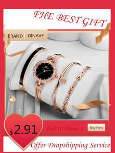 Woman Watch Bracelet Wrist Quartz Stainless-Steel Reloj Fashion Luxury Brand Saati Round