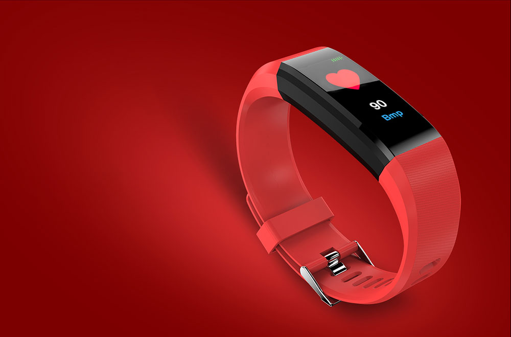 115Plus Smart Bracelet 0.96 inch ST - 17H25 16KB RAM 512KB ROM Heart Rate Monitor Step Count Sedentary Reminder IP67 80mAh Built-in