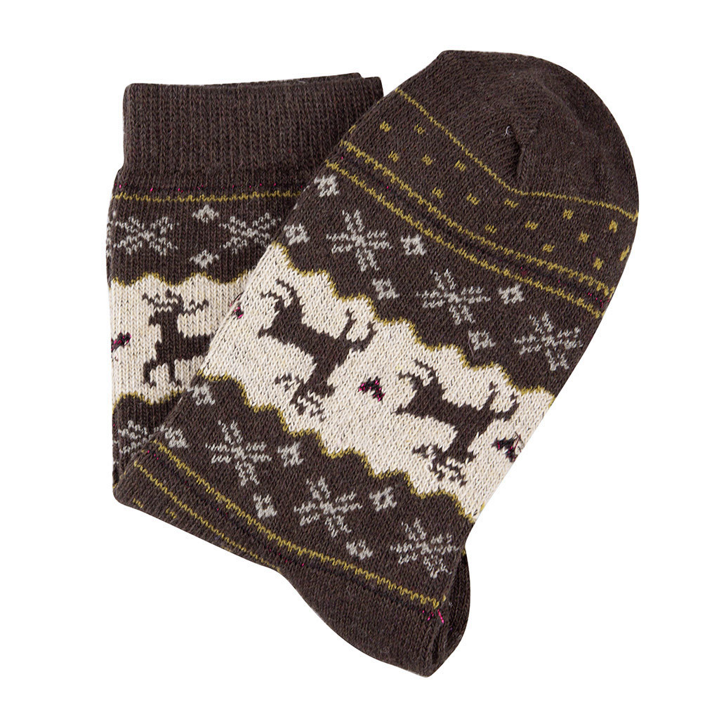 Christmas gold silk deer rabbit wool socks quality comfortable breathable socks casual autumn winter women men holiday gift
