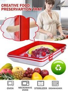 Tray-Organizer Pallet Preservation Refrigerator Food-Storage-Container Fresh Creative