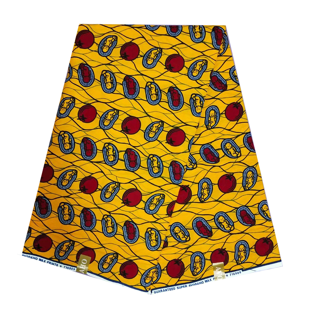 Wax-Fabric Ghana Dutch African Nigerian Ankara Cotton for Indonisia Batik Veritable Pange title=