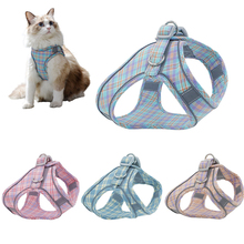 Dog Cat Harness Vest Adjustable Puppy Kitten Collars Reflective Walking Lead Leash Set Chihuahua harnesses For Small Dogs Cats