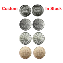 Tokens Arcade-Game Metal Stainless-Steel 100pcs 25mm