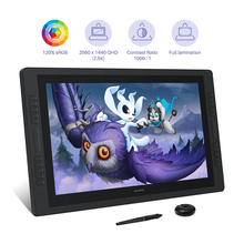 Pen Tablet Pen-Display Huion Kamvas-Pro Monitor Dual-Touch-Bar QHD 2K 24 RGB 20-Keys