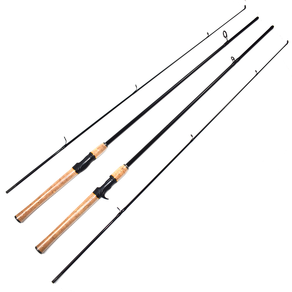 Fishing-Rods Ultralight Carbon-Spinning Baitcasting Portable Action title=
