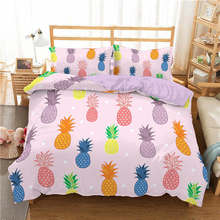 ZEIMON Pineapple Printing 3D Bedding Sets Single Queen King Size Plant Duvet Cover Set Pillowcase Bedclothes Microfiber Bed Set(China)