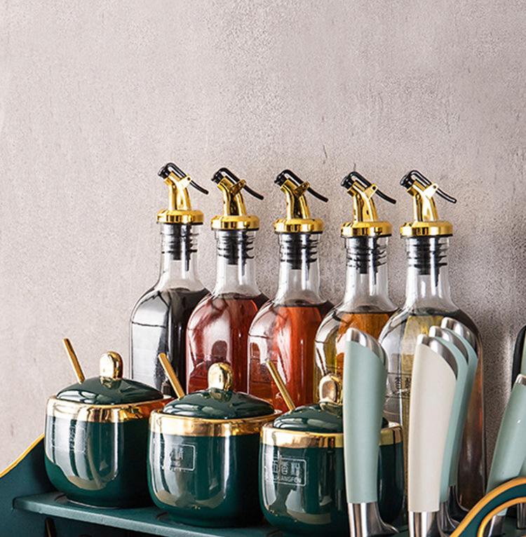 Leak-proof Olive Oil Sprayer Liquor Dispenser Wine Pourers Flip Top Stopper
