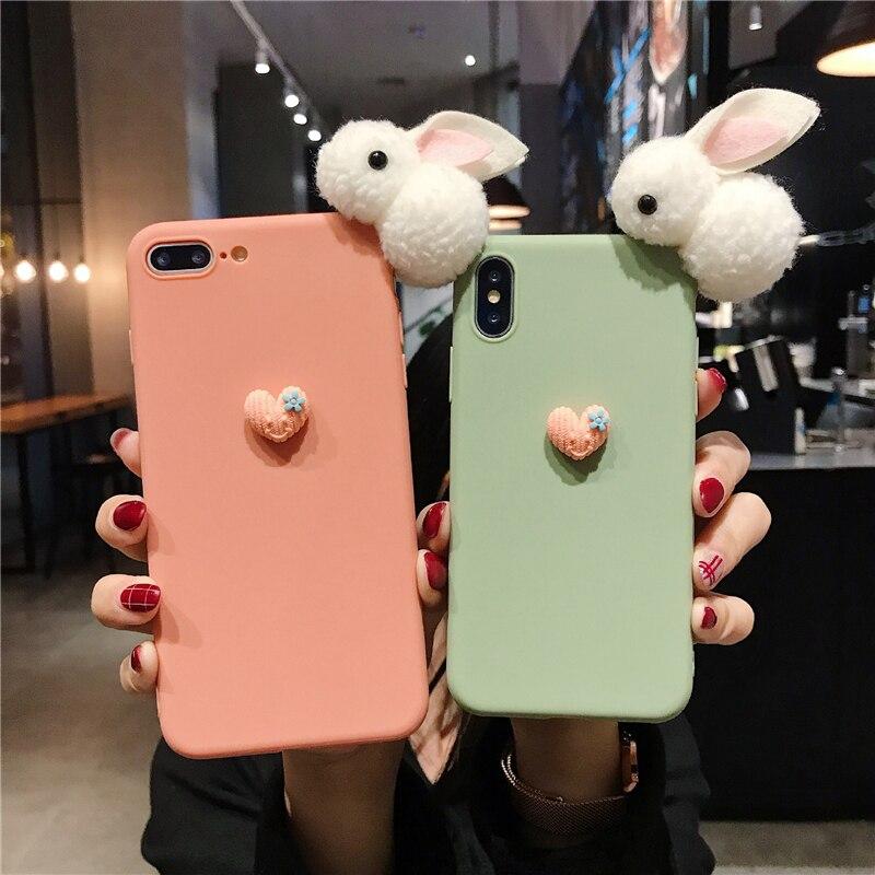 Cute Rabbits Mobile Phone Case for Xiaomi Redmi Note 8 7 5A 6 Pro 5 Pro Global 4X 3 Redmi S2 Go Matte TPU Cover