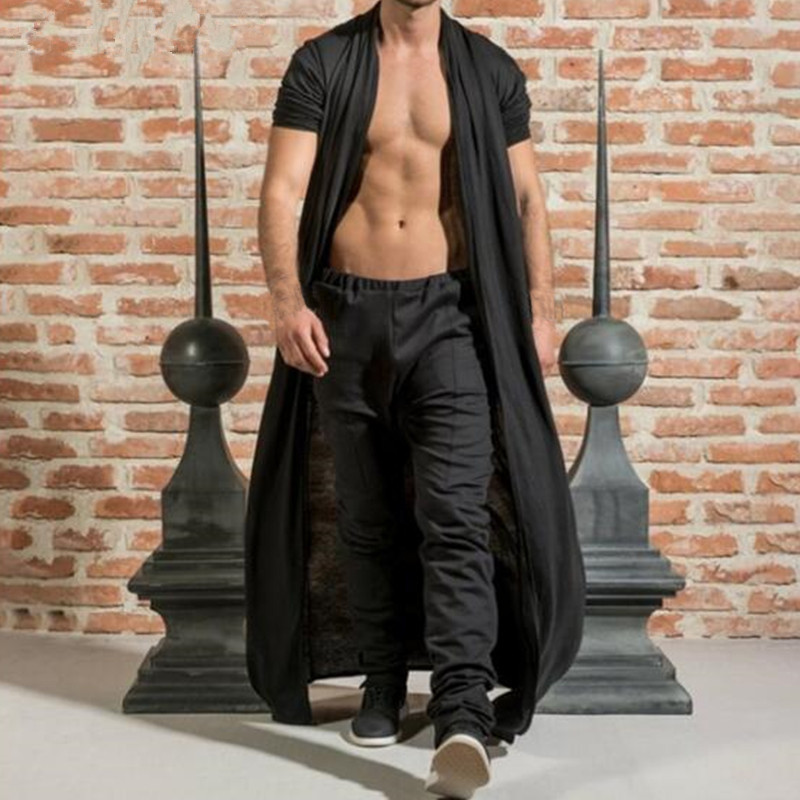 INCERUN-Gothic-Punk-Jackets-Men-s-Coat-Ruffle-Shawl-Collar-Cardigan-Open-Front-Outwear-Long-Cape_