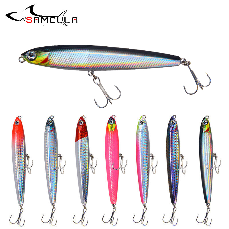Saltwater Lures Fishing-Accessories Trolling-Lure Pencil Sinking Bass Weights 10-24g title=