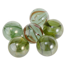 6Pcs 35mm Assorted Colors Clear Glass Marbles Balls Vintage Toys Game For Kids