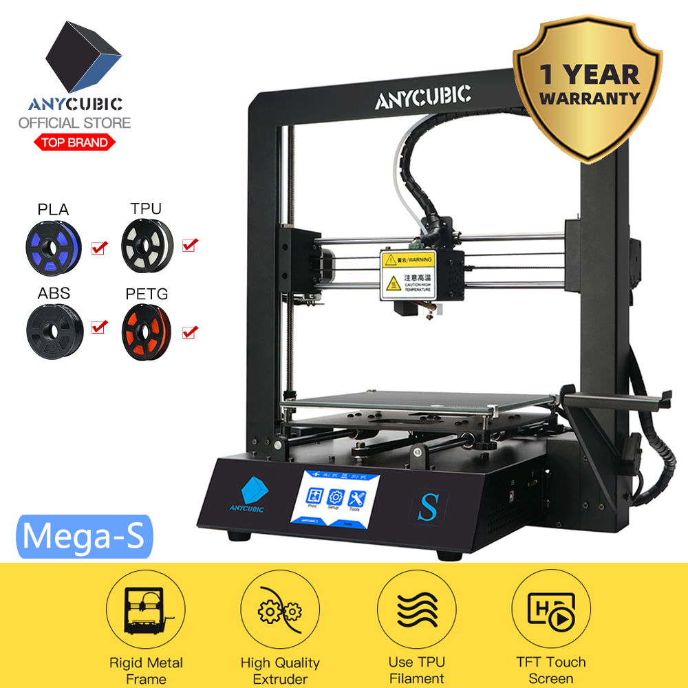 ANYCUBIC 3d-Printer Metal-Frame Touch-Screen I3 Mega-Upgrade DIY Large-Size High-Precision title=