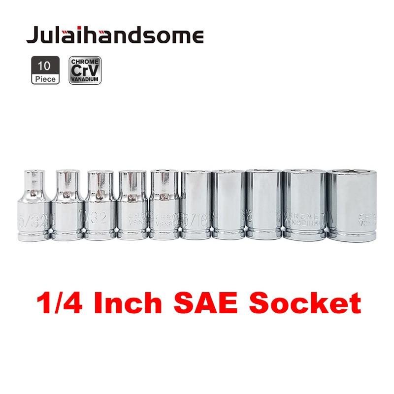 Socket Set 11pc 1//4 in.Dr SAE