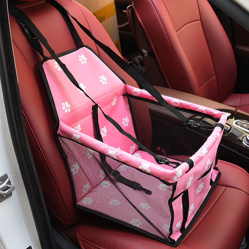 Travel Dog Car Carrier Seat Cover Folding Hammock Pet Carriers Bag Carrying For Dogs Cats Transportin Pet Basket Waterproof 17