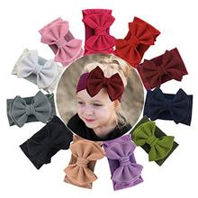 12Pcs Big Bows Baby Headbands Newborn Knotted Headbands and Bows for Infant Toddler Child