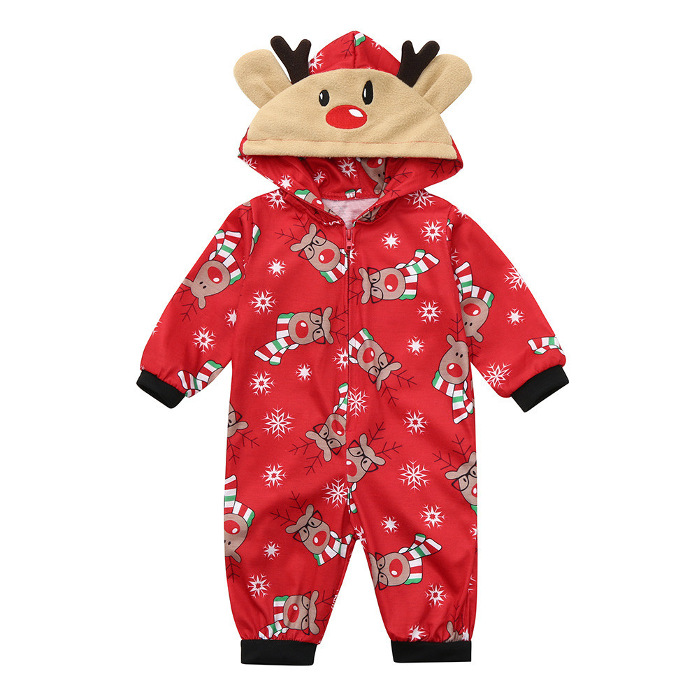 3-6m Baby Boys Christmas Holiday Outfit 1PC Red SANTA SUIT with Hood Size 0-3M