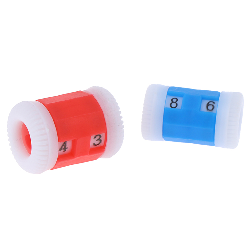 2Blue Plastic Knitting Needles Row Counter Lines Number Calculator ToolRAS 2Red