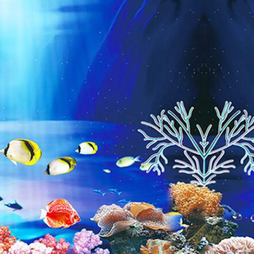 KSTE 3D Efecto Adhesivo Seaworld Cartel for Peces de Acuario Tanque Decoraci/ón 61 x 41cm