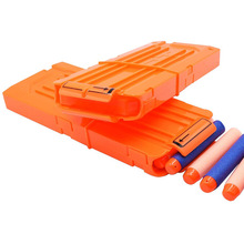 12-Orange-Reload Clip Gun Magazine Soft-Bullet-Clip Nerf n-Strike Darts Gun-Toy Replacement-Toy