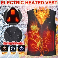 Winter Electric Heating Jacket Vest Heated Cloth Coat Men Women's USB Warm Sport Softshell Winter For Hiking Camping