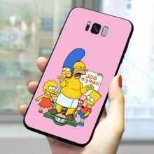 Чехол для телефона Simpsons для samsung Galaxy S10 S6 S7 Edge S8 S9 Plus S10e Note 8 9 M10 M20 M30 из мягкого ТПУ(Китай)