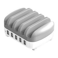 ORICO, USB зарядное устройство, 5 портов, USB док-станция с держателем, usb зарядка для смартфона, планшета, ПК, для дома, общего пользования, 40 Вт, 5В, 4*...