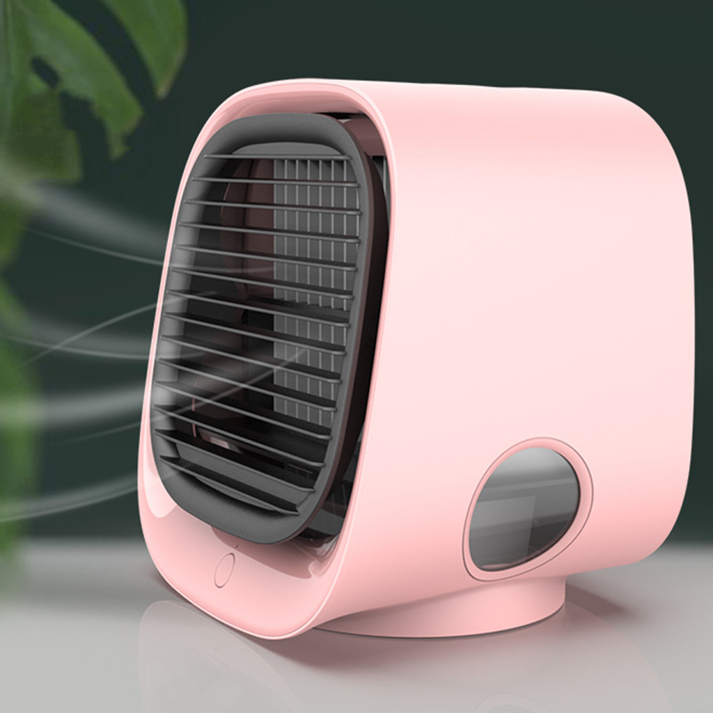USB Mini Desktop Air Conditioner with Night Light Water Cooling Fan Humidifier Purifier Multifunction Summer Air Cooling Fan