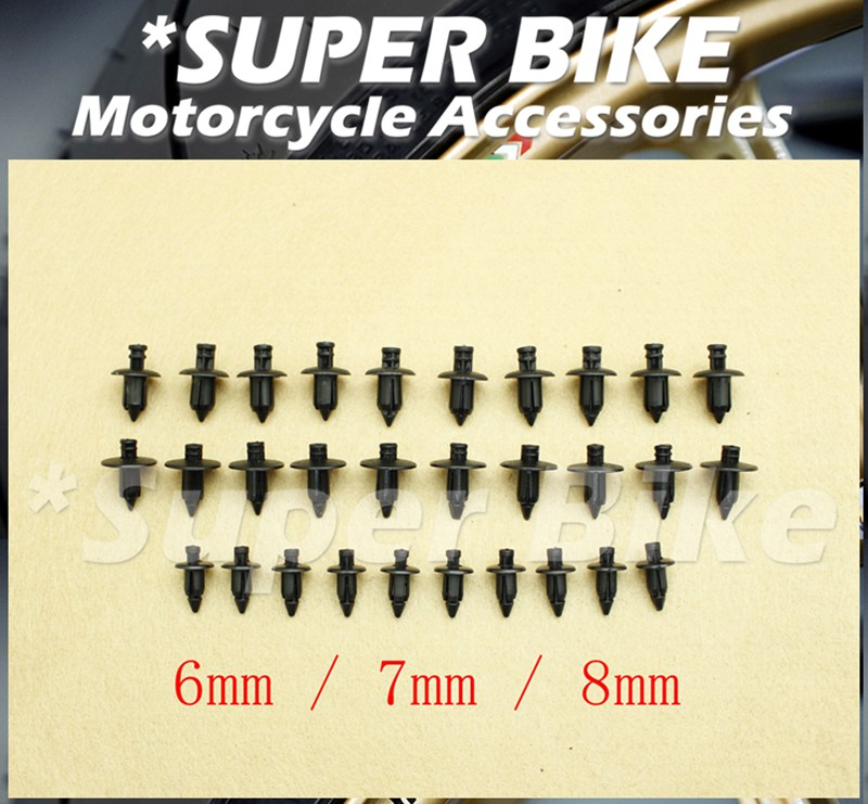 6/7/8(mm) Plastic Expansion Screw Bolts Nuts Fairing Universal Fit YAMAHA R1 R6 TMAX title=