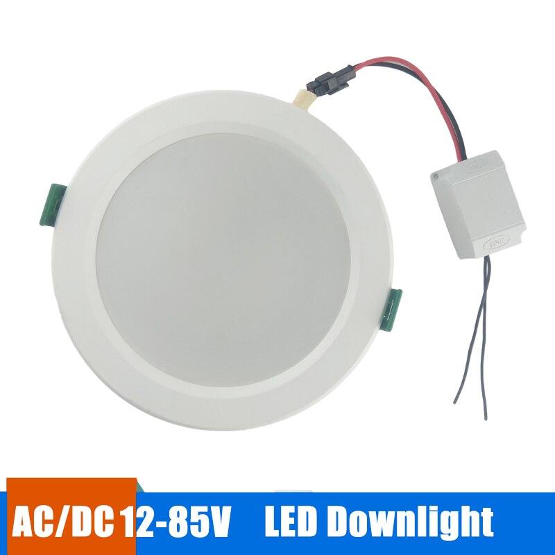 Led Downlight Recessed Round Lamp 18w 15w 12w 9w Round Led Panel Light 12v 24v 36v 48v Led Lights For Home Bedroom Spot Light